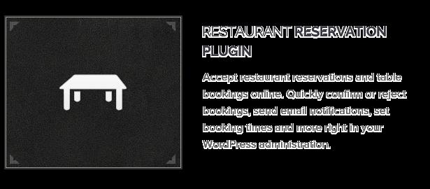 Restaurant Reservation Plugin