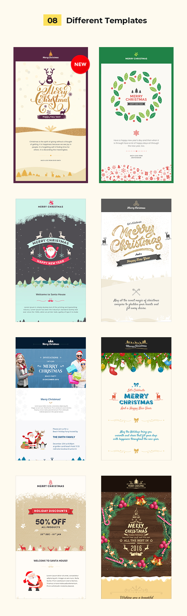 Christmas And New Year Responsive Email Template With Builder By - Mailchimp holiday templates