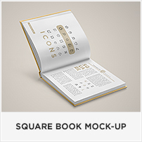 Square Book Mock-up / Dust Jacket Complete Edition - 5