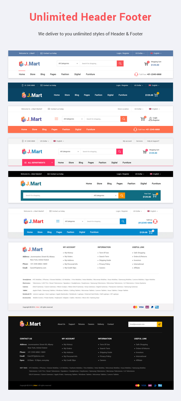 JMart Prestashop Theme