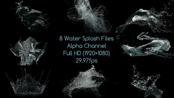 Water Drop Splash Logo - 54