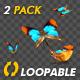 Butterflies - Colorful Swarm - Closeup Loop - 119