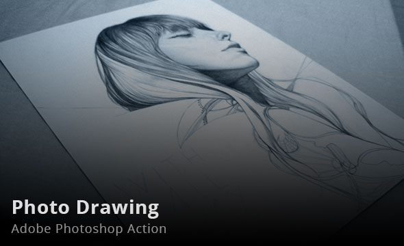 Photo Drawing Photoshop Action