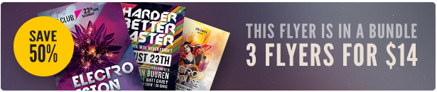 Electro Party Flyer Bundle