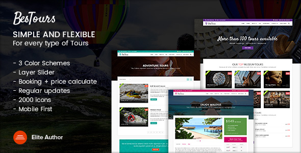BESTOURS - Tours, Excursions and Travel multipurpose template