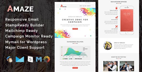 AMAZE - Multipurpose Responsive HTML Landing Page - 1
