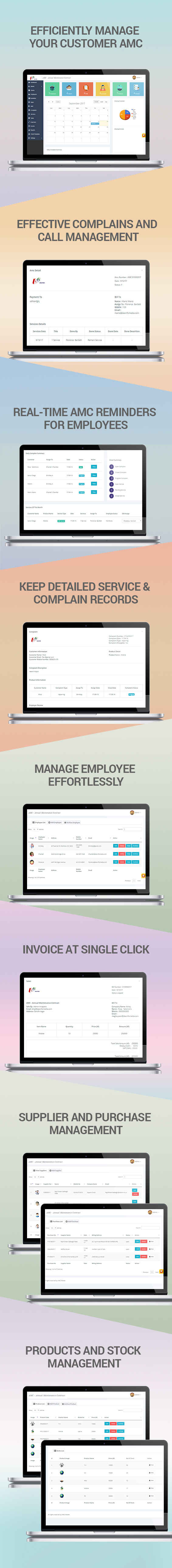 Annual maintenance contract Management software