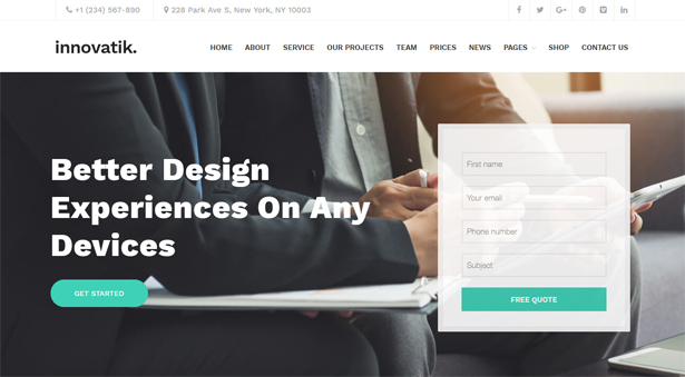 Innovatik - Corporate WordPress Theme | Creative WP | Business WP - 5