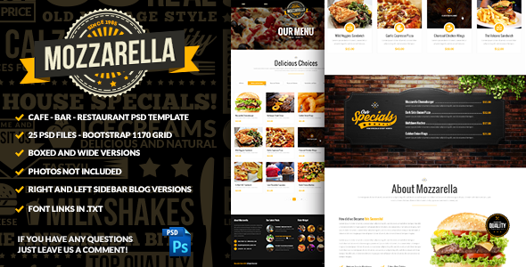 Mozzarella PHP & HTML Cafe Bar Template - 12