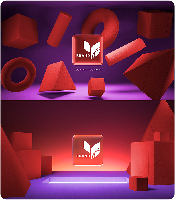Gradient Glass Logo Reveal. 10 Ready Color Presets. - 8