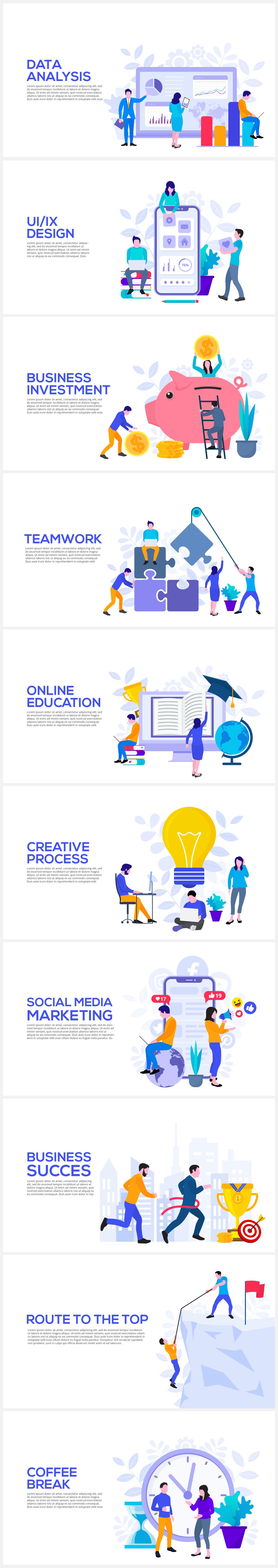 Multipurpose Infographics PowerPoint Templates v.5.0 - 167