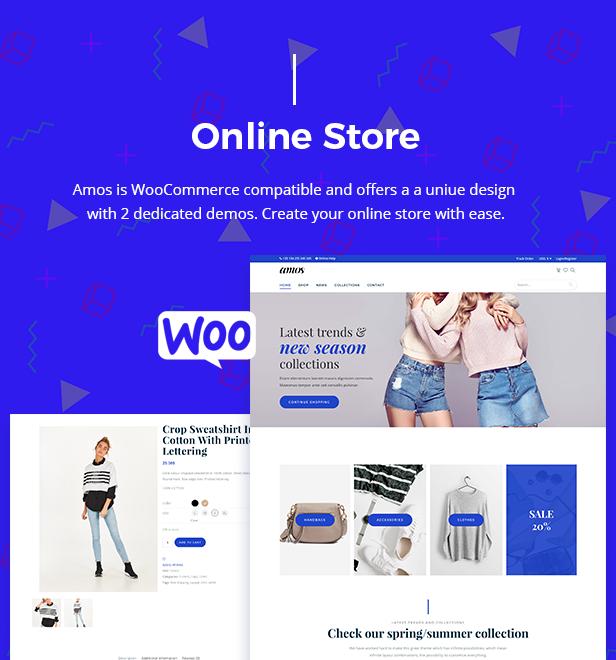 Amos - Tema WordPress Criativo para Agências e Freelancers - 9