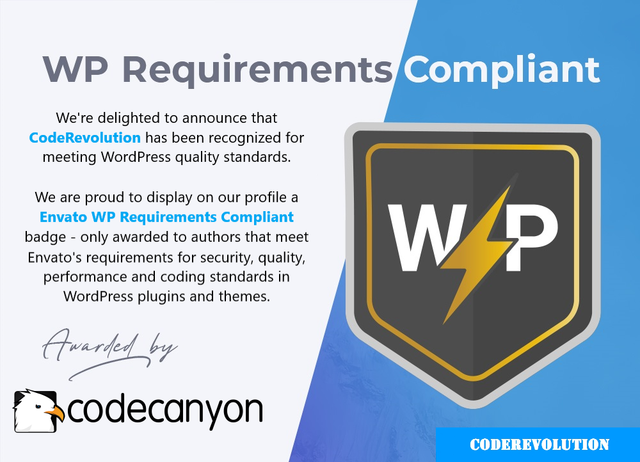 WP Requirements Compliant badge