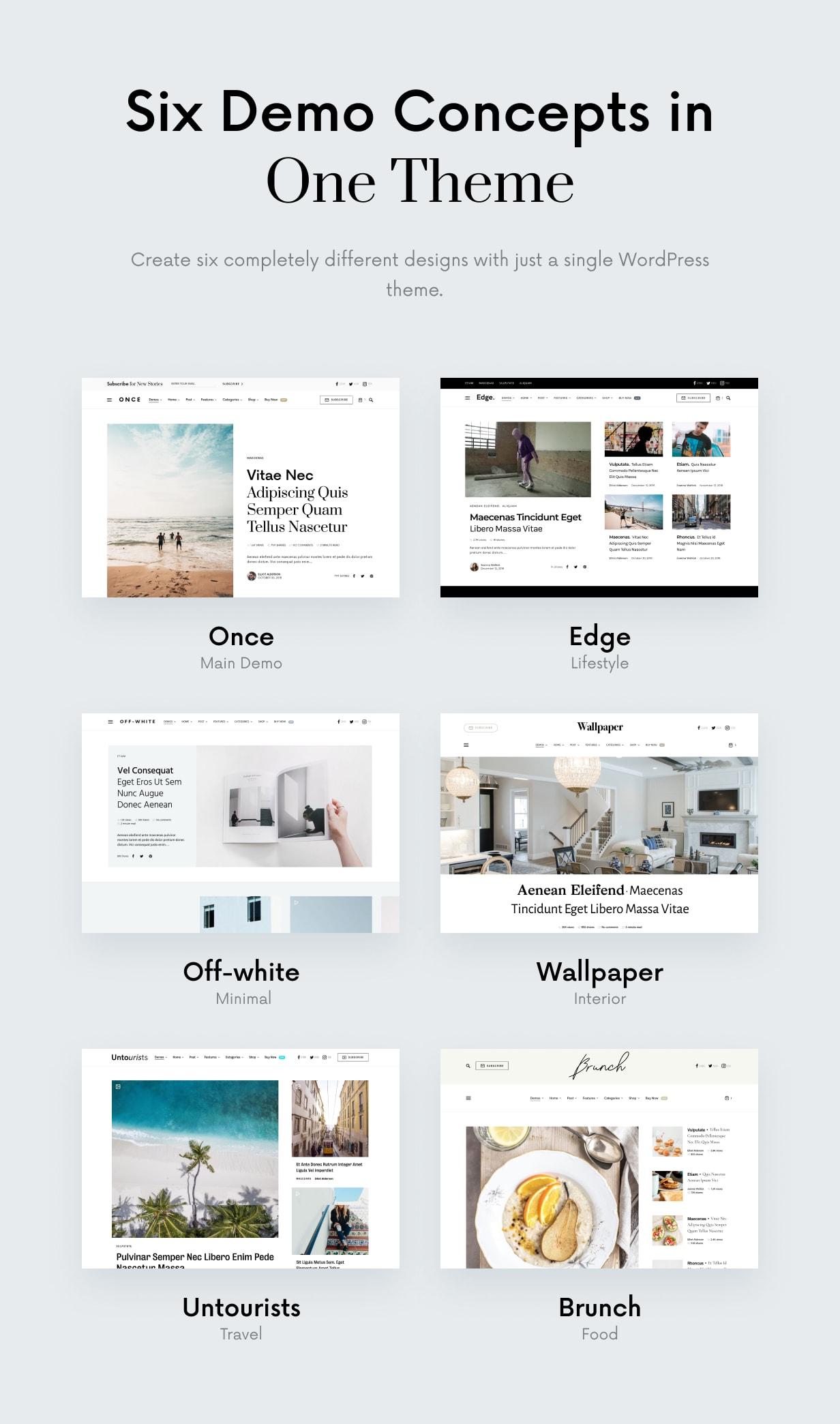 Once - Clean & Elegant WordPress Blog Theme - 2