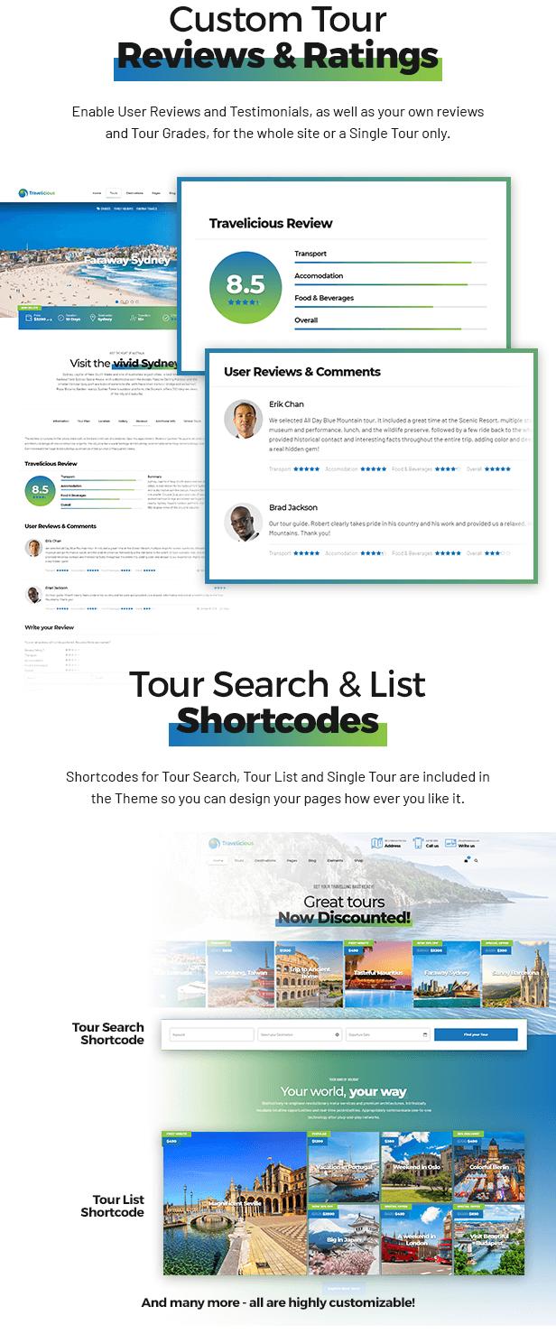 Travelicious - Tourism, Travel Agency & Tour Operator WordPress Theme - 6