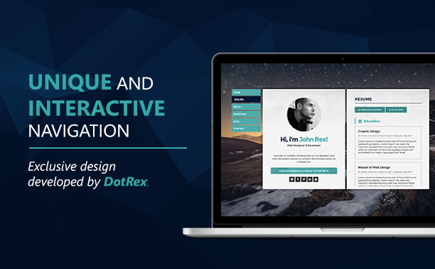 cards is a modern exclusive and flat theme its a vcard cv resume and portfolio focused on digital professionals whether designers programmers or - Resume Cv Joomla Template