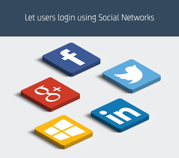 Let users login using Social Networks