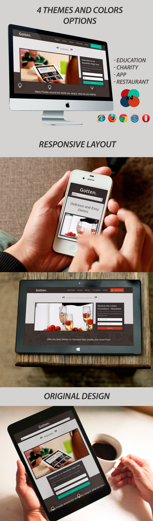 Gotten - Restaurant, App, Education, Charity Landing Page - 7
