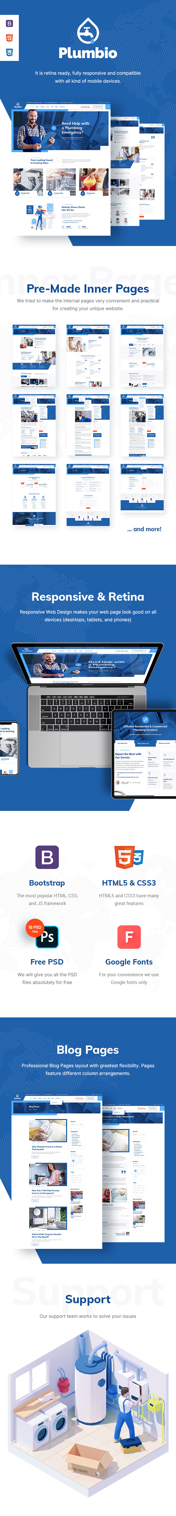 Plumbio - Plumber and Plumbing Services HTML Template - 1