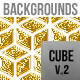 Cube Golden Backgrounds