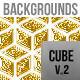 Cube Golden Backgrounds