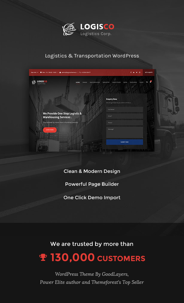 Logisco - Logistics & Transportation WordPress - 1