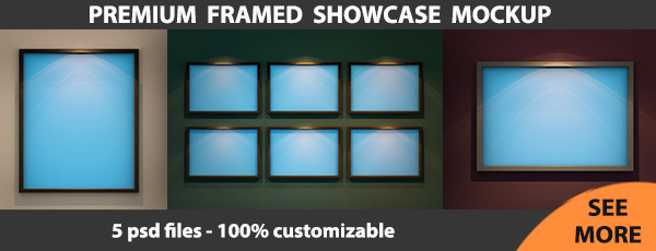 Framed Showcase Mockup