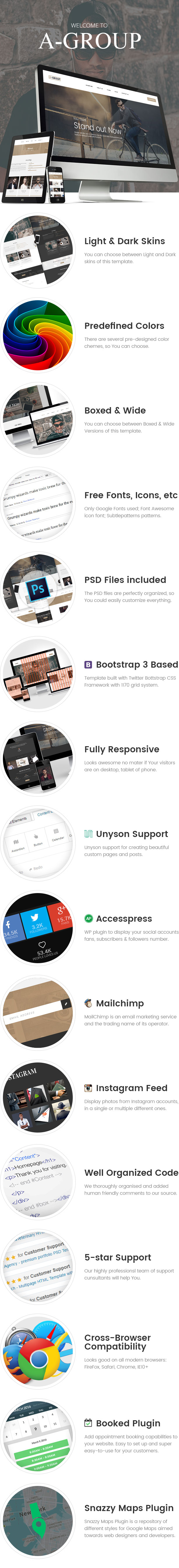 A-Group - Corporate & Business Company WordPress theme