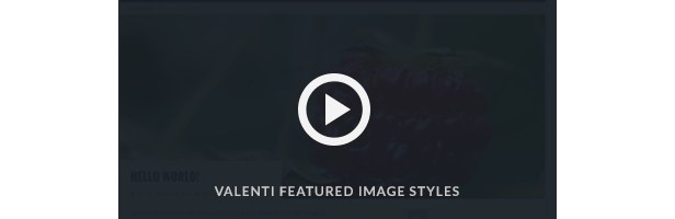 Valenti Parallax Featured Image Video demo