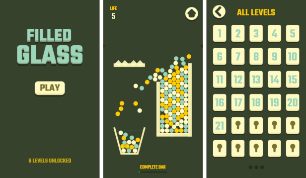 Filled Glass - HTML5 Game (Construct3) - 1