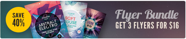 Abstract Party Flyer Bundle