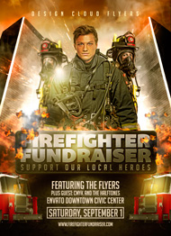 Design Cloud: Fire Fighter Fundraiser Flyer Template
