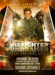 Design Cloud: Fire Fighter Fundraiser Flyer Template