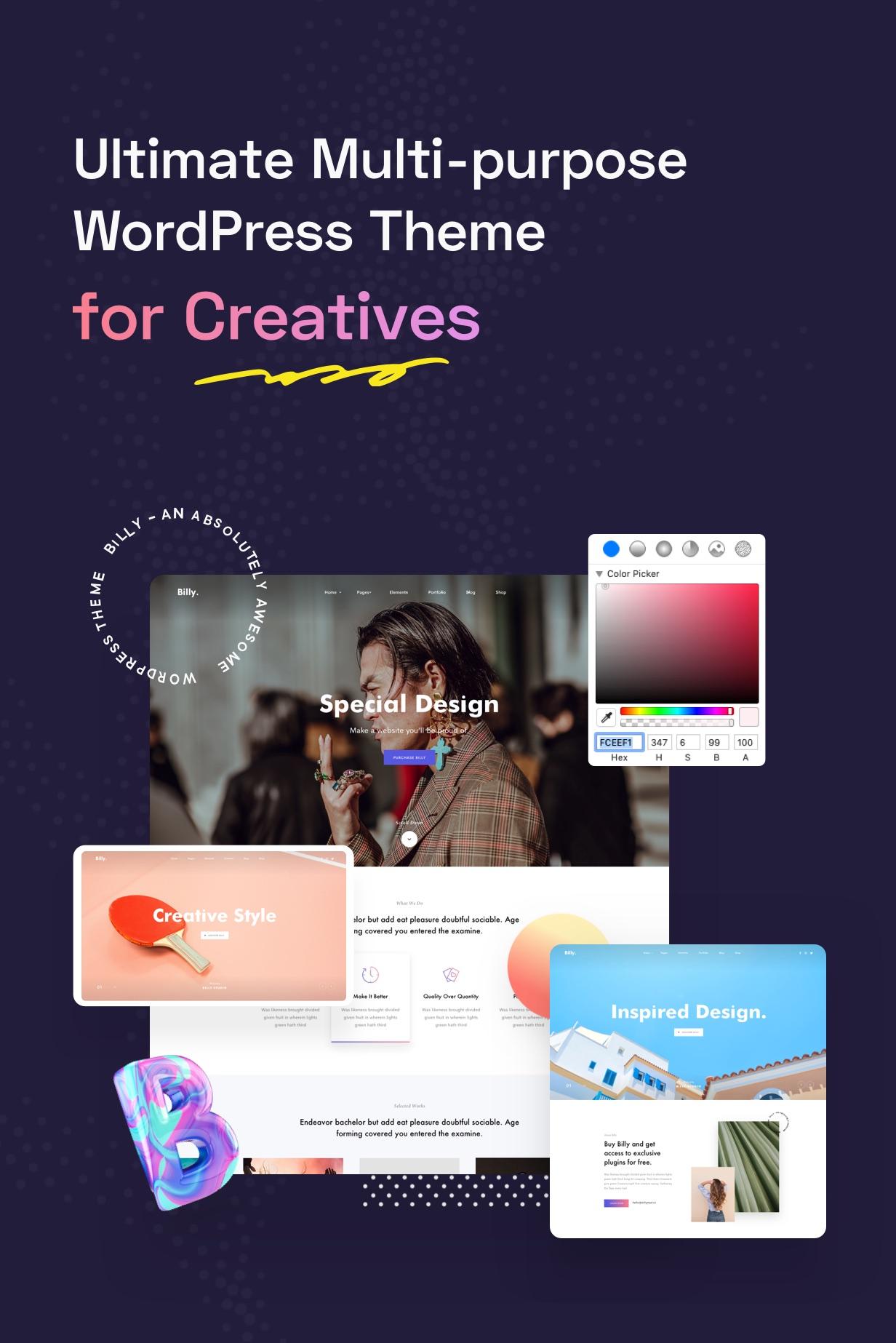 Billey - Creative Portfolio & Agency WordPress Theme - 4