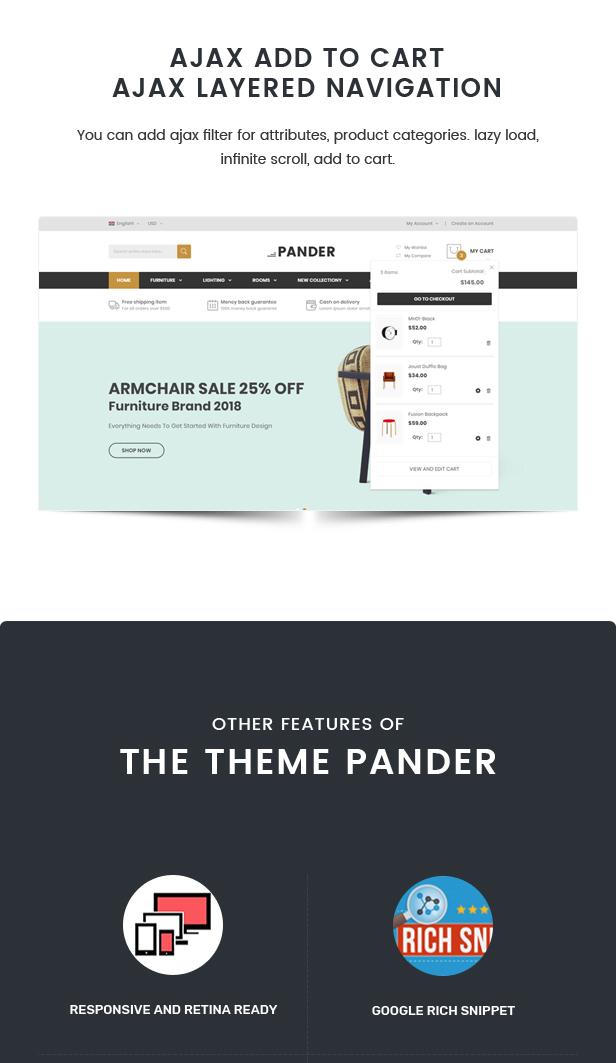Pander - Furniture Responsive Magento Theme