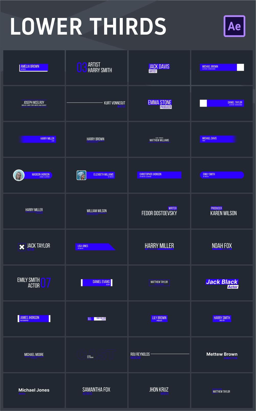 中文汉化AE脚本-465个创意社交媒体字幕条标题图形排版设计背景过渡动画元素扩展工具包 for Win/Mac破解版插图13
