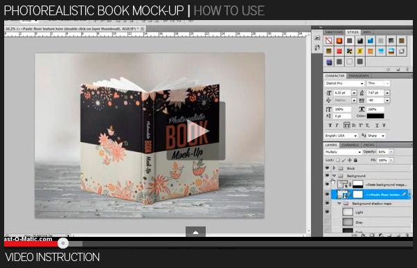 Photorealistic Book Mock-Up