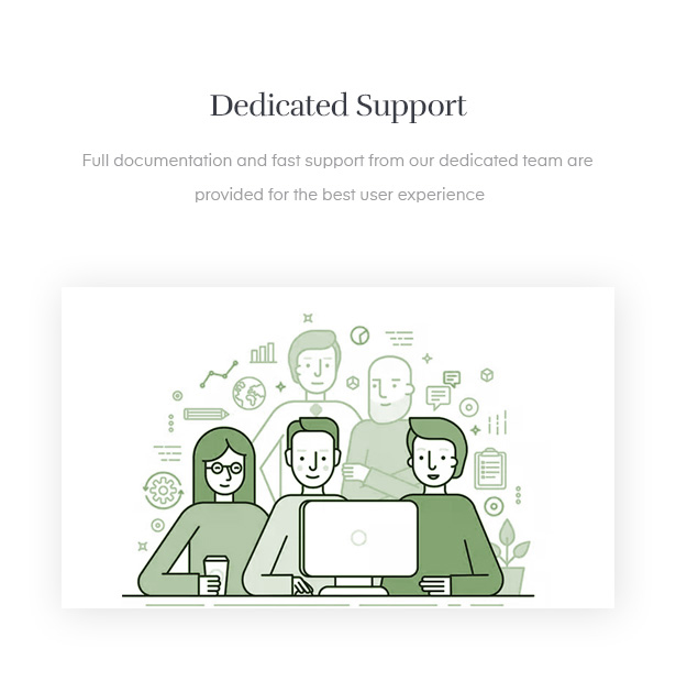 dedicated support and free updates after you purchase the handmade template