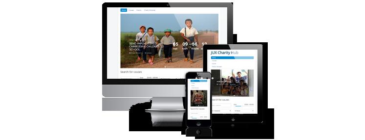 Charity Hub responsive
