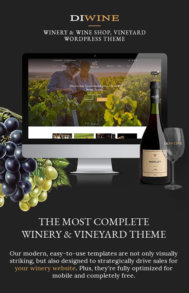 Diwine - Winery & Wine Shop, Vineyard WordPress Theme