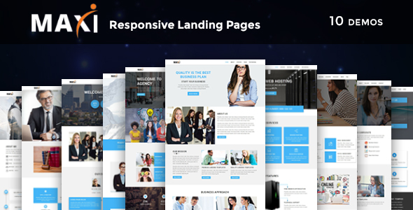 LEAD - Multipurpose Responsive HTML Landing Page - 1