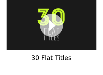 30 Flat Titles