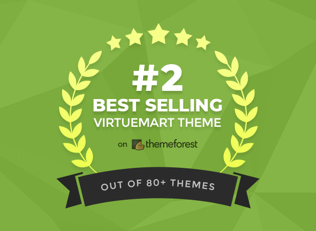 #2 Best Selling VirtueMart Theme on Themeforest