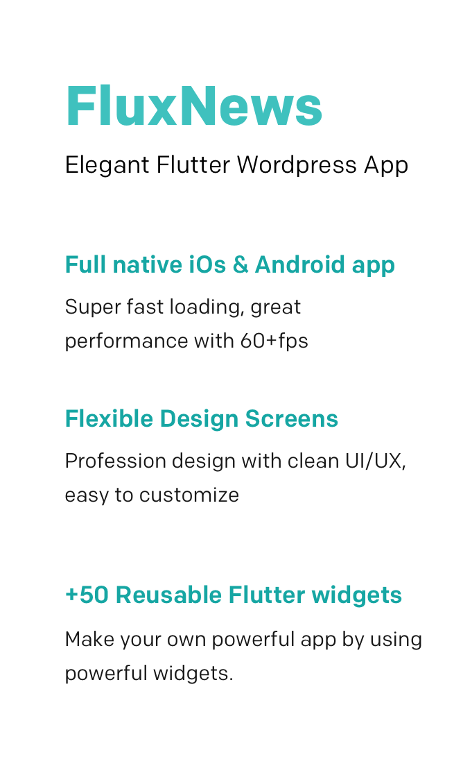 FluxNews - Flutter mobile app for Wordpress - 2