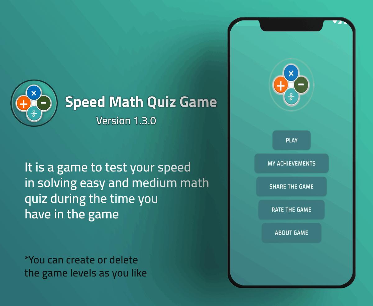 Fast Math Quiz Game - 1