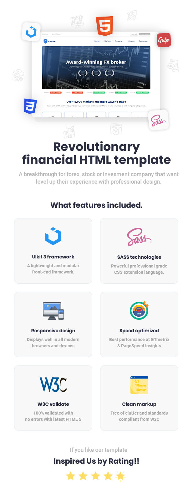 Monee - Forex and Stock Broker HTML Template - 2