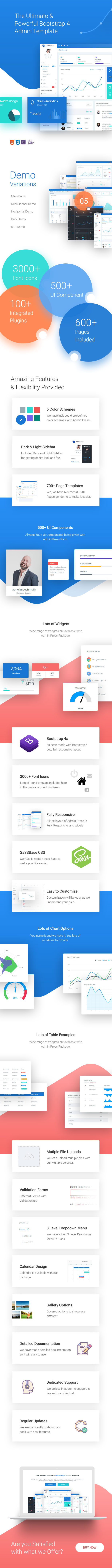 Admin Press - The Ultimate & Powerful Bootstrap 4 Admin Template - 1