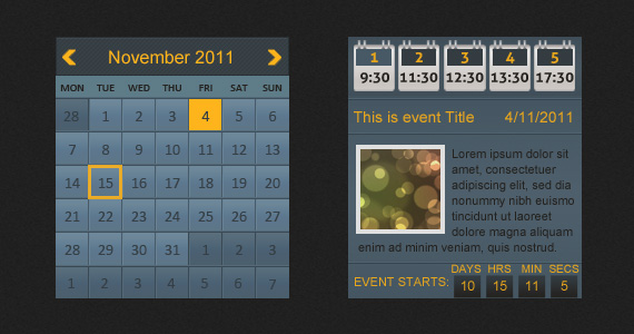 Wordpress Multiple Events Calendar with Countdown - 7