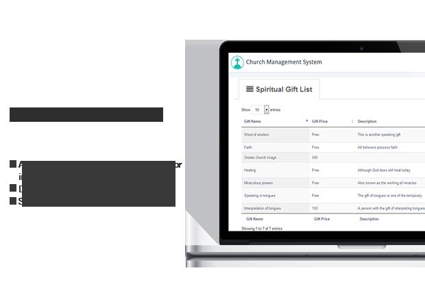 spiritual gift management for member