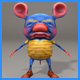 3D Stylized Rat Character